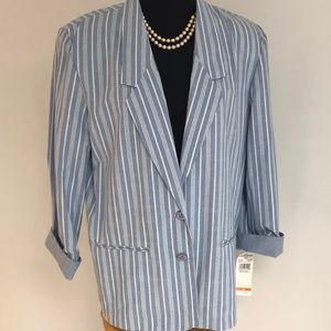 ALFRED DUMNET Summer Striped Blazer NWT